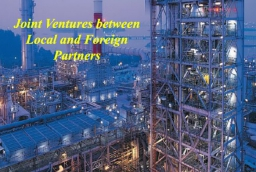 Joint Ventures between Local and Foreign Partners :